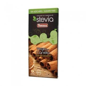 cioccolato fondente con stevia alla cannella