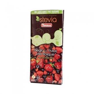 cioccolato fondente con stevia ai frutti di bosco